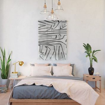 Modern improvisation 02 Wall Hanging by vivigonzalezart