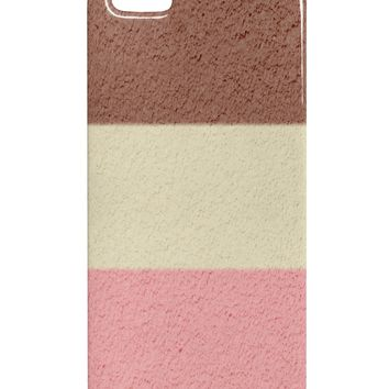 Horizontal Neapolitan Ice Cream iphone 5 & 5S Plastic Case All Over Print by TooLoud
