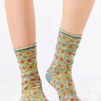 Blanket-Pattern Ankle Sock- Neutral Multi One