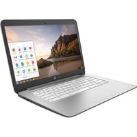 "HP - 14"" Chromebook - NVIDIA Tegra - 2GB Memory - 16GB Flash (eMMC) Memory - Snow White/Smoke Silver"