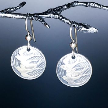 Sterling Silver Flying Doves Earrings