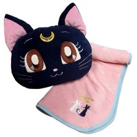 Sailor Moon Crystal Luna Fuwa Fuwa Blanket in Cushion