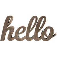 Wood Stain Hello Word | Hobby Lobby