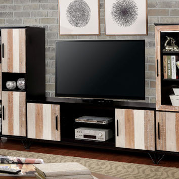 Furniture of america CM5592-TV-72-3PC 3 pc Binche espresso / multi finish wood TV entertainment center