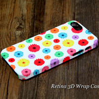 Color Chrysanthemum Floral 3D-Wrap iPhone 5S Case iPhone 5 Case iPhone 5C Case iPhone 4S Case iPhone 4 Case