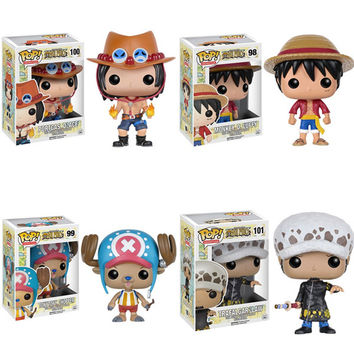 Funko POP One Piece Luffy Chopper Ace action Figures Lovely Mini Collections Model Toys Gifts For Kids With Nice Package #F