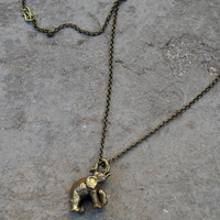 """Abundance"" Elephant Pendant Chain Necklace"
