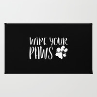 Life's Better with a German Shepherd/Wipe Your Paws Rug by Climbing Mountains Art