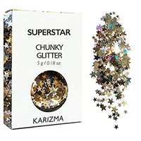 Superstar Chunky Glitter ✮ COSMETIC GLITTER KARIZMA ✮ Festival Beauty Makeup Face Body Hair Nails