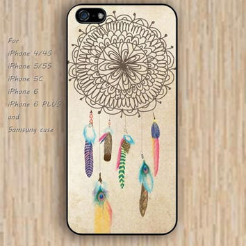iPhone 5s 6 case feathers Dream catcher colorful phone phone case iphone case,ipod case,samsung galaxy case available plastic rubber case waterproof B416