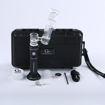 Portable Enail Dab Rig With Hardshell Protective Case - Titanium and Ceramic Nails