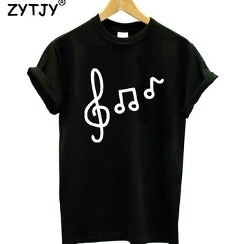 music note Print Women Tshirt Cotton Funny t Shirt For Lady Girl Top Tee Hipster Tumblr Drop Ship HH-400