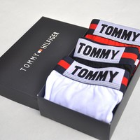 Tommy Hilfiger New hot sales fashion letter print men three color 3 briefs boxed