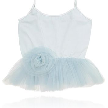 [ PRE ORDER *] DOLLY by Le Petit Tom ® Cami Top with Rosette light blue