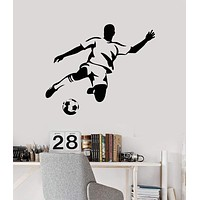 Vinyl Wall Decal Soccer Player Ball Sports Idea Decoration Stickers Mural Unique Gift (ig4941)