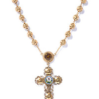 Filigree cross rosary necklace | Dolce & Gabbana | MATCHESFASH...