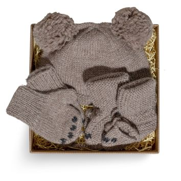 Alpaca Baby Bear Knit Set