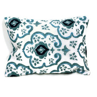 Aromatherapy Herbal Dream Pillow - Aqua Damask - (Blends Available: Restful, Peaceful, Romantic, or Creativity)
