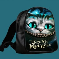 Chesire Cats Smile for Backpack / Custom Bag / School Bag / Children Bag / Custom School Bag ***