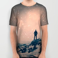 Lost the Moon While Counting Stars All Over Print Shirt by Soaring Anchor Designs