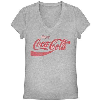 Coca-Cola Straight Up Womens V-Neck T-Shirt