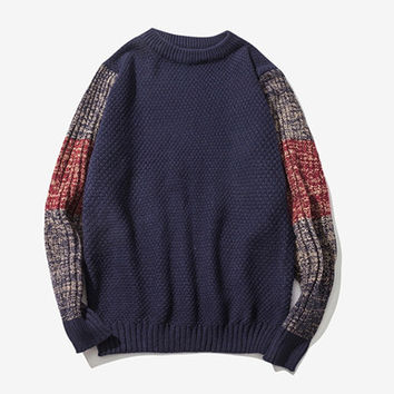 Men Sweaters Men's Computer Knitted Pullovers Slim Fits Batwing Sleeve Plus Size Men Pullovers BL