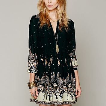 Free People Womens Sierra Valley Shirtdress - Slate,