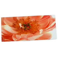 "Pellerina Design ""Blushing Peony"" Coral White Desk Mat, 22"" - Outlet Item"