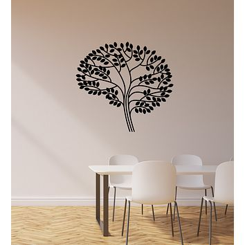 Vinyl Wall Decal Brain Leaves Lab School Science Class Classroom Stickers Mural (ig6086)