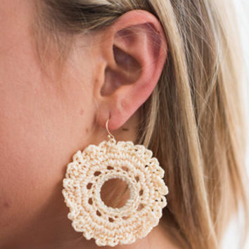 Santa Ana Earrings, Ivory