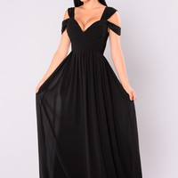 Sophistication Maxi Dress - Black