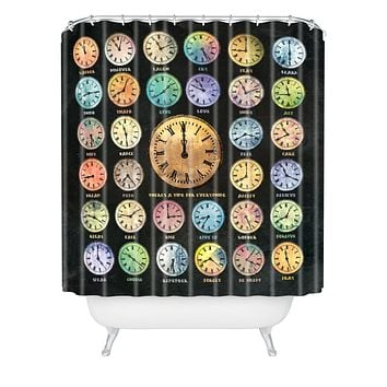 Belle13 A Time For Everything Shower Curtain