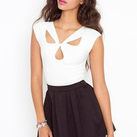 Totally Twisted Top - Ivory in What's New at Nasty Gal