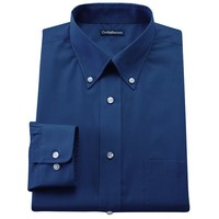 Croft & Barrow Slim-Fit Solid Broadcloth Button-Down Dress Shirt