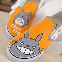 Totoro Shoes Totoro Canvas Shoes Anime Hand-painted Canvas Shoes