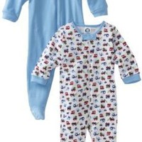 Gerber Baby-Boys Newborn 2 Pack Zip Front Cars And Trucks Sleep and Play , Navy Blue, 6-9 Months