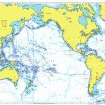 British Admiralty Nautical Chart 4002: A Planning Chart for the Pacific Ocean