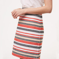 Costa Jacquard Shift Skirt | LOFT