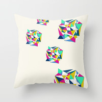 Geometric Worlds Throw Pillow by Sandra Arduini