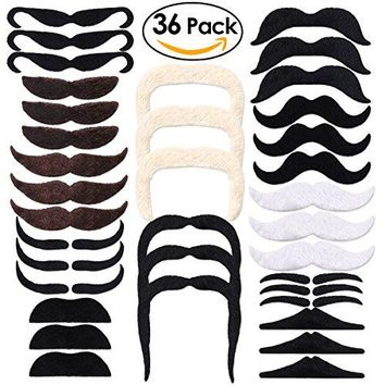 36 Pack Self Adhesive Fake Mustaches Christmas Party Favors