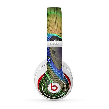 The Watered Neon Peacock Feather Skin for the Beats by Dre Studio (2013+ Version) Headphones