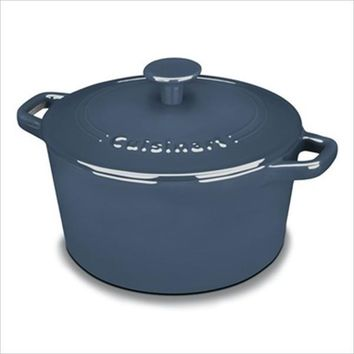 Cuisinart Cookware  Enameled Cast Iron 3 Qt. Round Covered Casserole-Blue