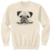Pug on Paws Dog Art Sweatshirt Ultra Cotton Small - 2XL