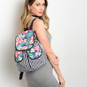 Striped Tropical Backpack