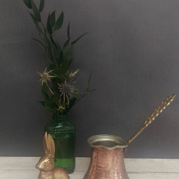 Turkish Coffee/ Turkish Coffee Pot/ Turkish Copper/ Coffee and Milk Pot/ Copper Creamer/ Copper and Brass Pot/ Coffee Accessories