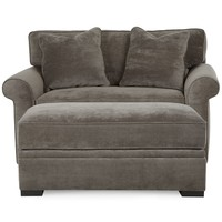 Chelsie Fabric Chairbed with Storage Ottoman Set