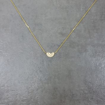 Watermelon Gold Necklace