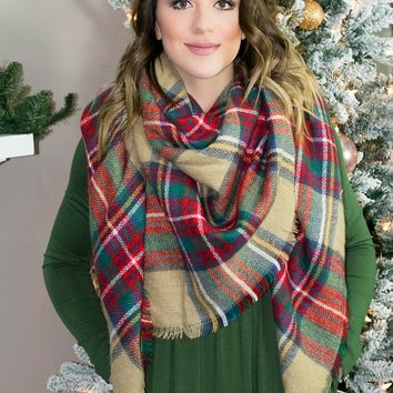 The Perfect Blanket Scarf- Beige
