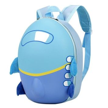 Toddler Backpack class XINIU Fashion Lovely Design Baby Girls Boys Kids Cute Airplane Cartoon Eggshell Backpack Toddler School Bag For Teens Girls AT_50_3