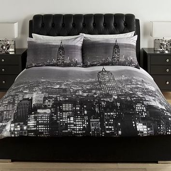 New York Photographic Skyline Duvet Cover Set Single Double King Size